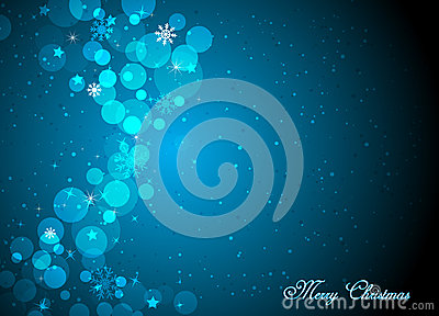 Christmas beautiful blue background