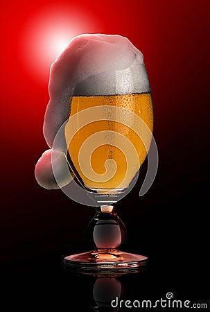 Christmas beer in black back