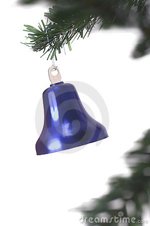 Free Christmas Bell Hanging Royalty Free Stock Image - 3399616