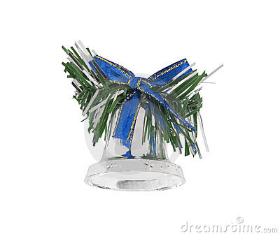 Christmas bell isolated over white