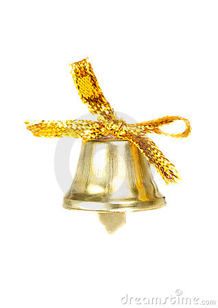 Christmas bell  isolated  on  white
