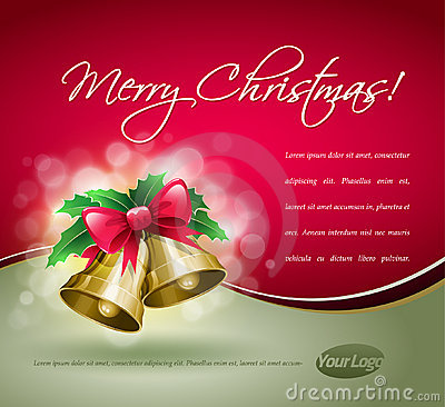 Free Christmas Bells Card. Royalty Free Stock Images - 21899809