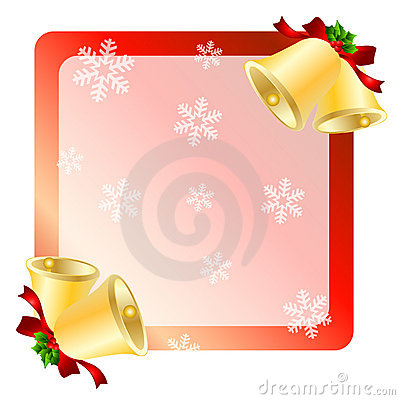 Christmas bells greetings card