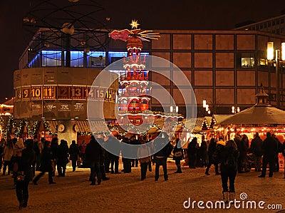 German Christmas market, Berlin Alexander platz Editorial Image