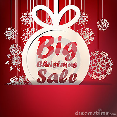 Christmas Big Sale template. + EPS10
