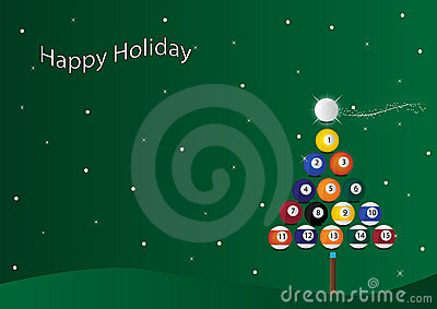 Christmas billiard background