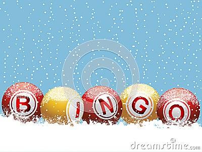 Christmas bingo background