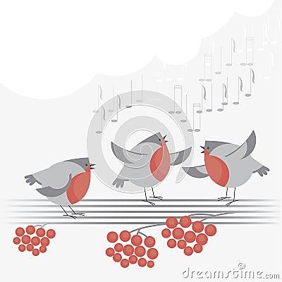 Christmas bird song