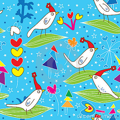 Christmas Birds Pattern_eps