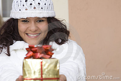Christmas or birthday gift, present