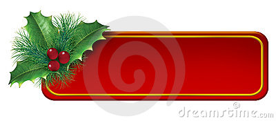 Christmas blank tag decoration element