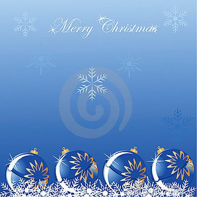 Christmas blue ball shine background
