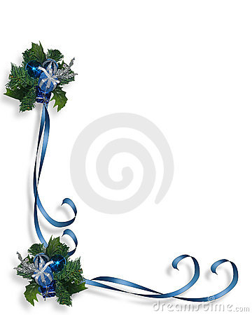 Christmas Blue Border Frame