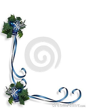 Christmas Blue Border Frame