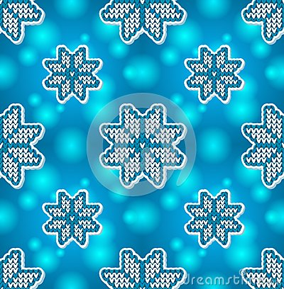 Christmas blue embroidery seamless pattern