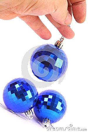Christmas Blue glass ball