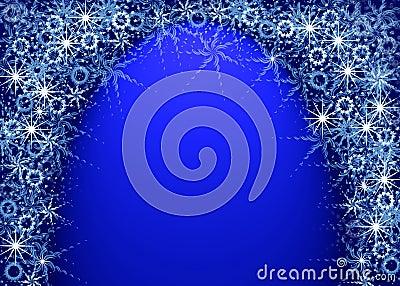 Christmas blue magic frame