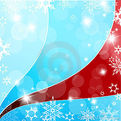 Christmas blue and red background