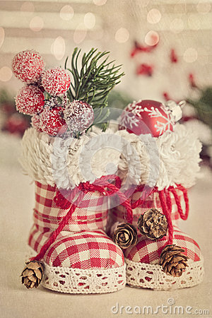 Free Christmas Boots Royalty Free Stock Images - 27206699