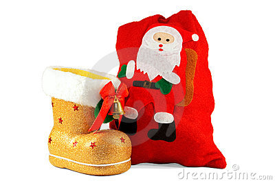 Christmas boots and bags for gifts