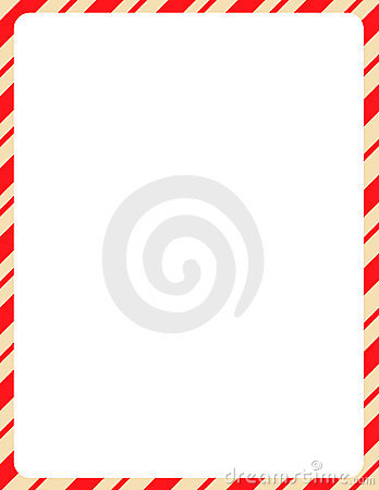 Christmas Border / candy cane