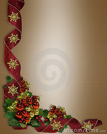 Christmas Border Elega...