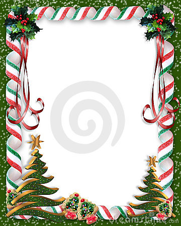 Christmas border frame candy