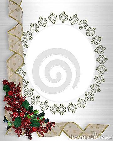 Christmas Border frame ribbons