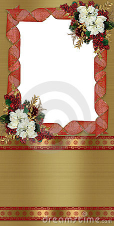 Christmas border greeting card