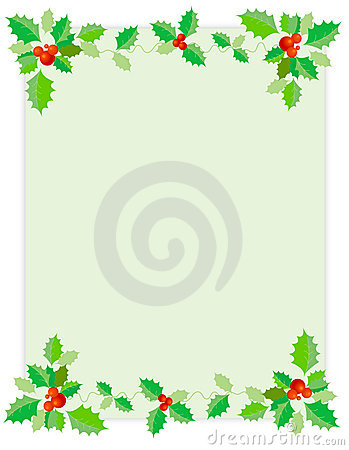 Christmas Border / Holly