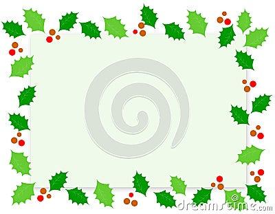 Christmas Border / Holly