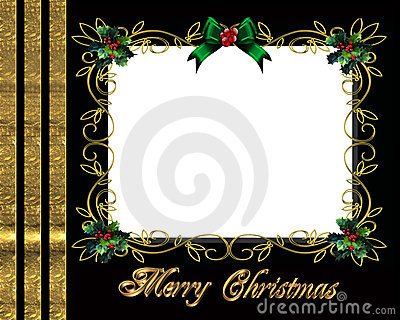 Christmas border photo frame elegant