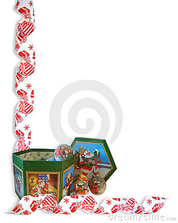 Christmas Border Ribbons ornaments