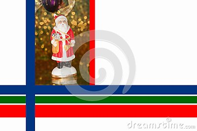 Christmas Border with Saint Nicholas