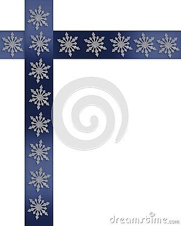 Christmas border snowflakes