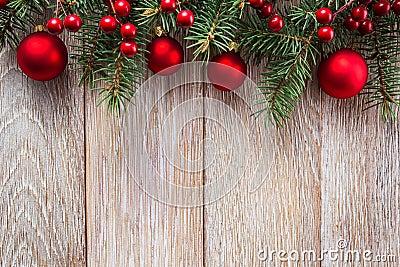 Christmas border, holidey background Stock Photo