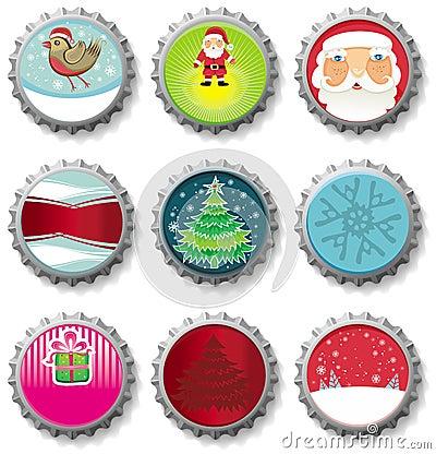 Christmas bottle caps