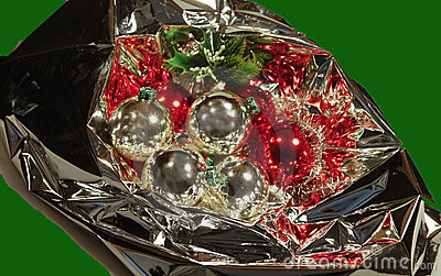 Christmas bouquet with baubles