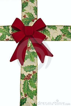 Christmas Bow and Ribbon - Isolated