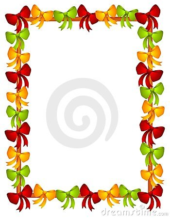 Christmas Bows Ribbons Frame