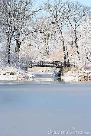 Free Christmas Bridge Stock Photo - 1559270