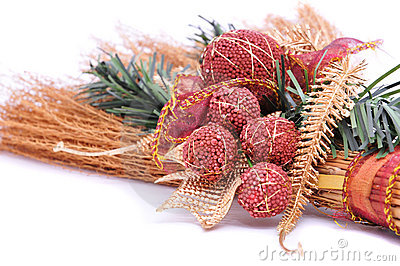 Christmas broom, ornament