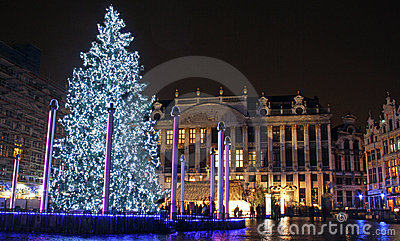 Christmas in Brussels (Belgium) Editorial Stock Image