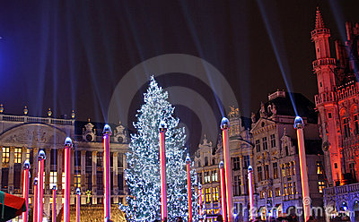 Christmas in Brussels (Belgium) Editorial Photo