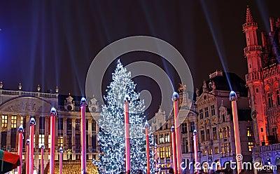 Christmas in Brussels (Belgium) Editorial Photo