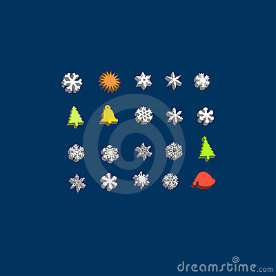 Christmas buddy 3d icon set