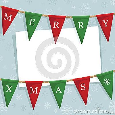 Christmas bunting decoration