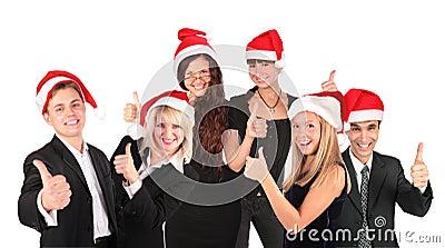 Christmas business people group