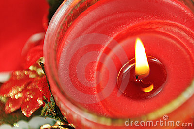 Stock Images: Christmas candle. Image: 17340804