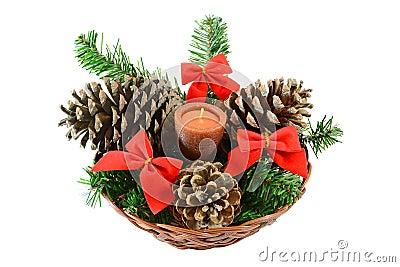 Stock Photo: Christmas candle. Image: 21419330